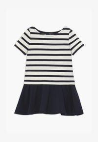 Polo Ralph Lauren - PONTE DRESS - Žerzejové šaty - hunter navy/clubhouse cream - 2
