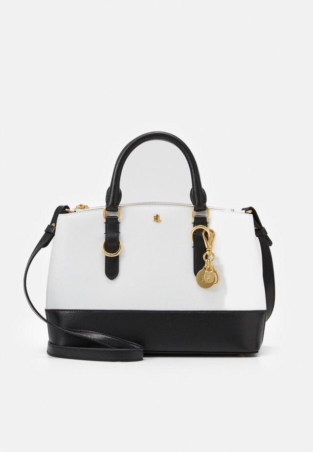 MINI ZIP SATCHEL MINI - Handbag - optic white/black