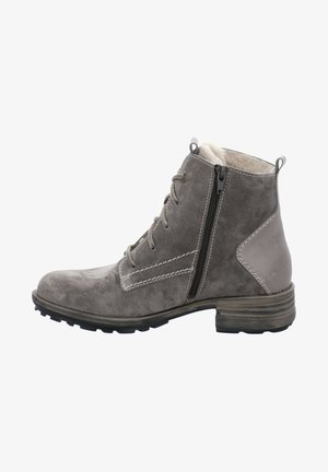 SANDRA - Lace-up ankle boots - grey