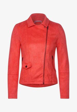 Faux leather jacket - orange
