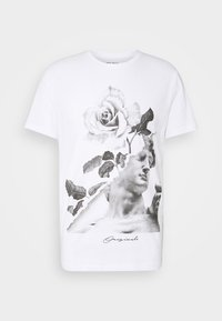 Jack & Jones - JORFASTER TEE CREW NECK - T-shirt imprimé - white - 4