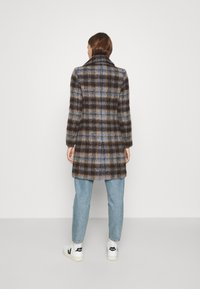 Banana Republic - BRUSHED PLAID COAT - Classic coat - brown/blue - 2