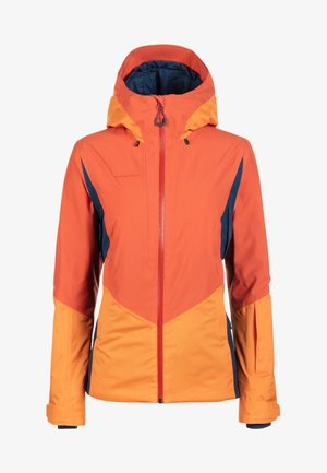 CASANNA THERMO - Snowboard jacket - pepper-cheddar-wing teal