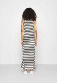 Calvin Klein - LOGO SCOOP MAXI DRESS - Maxi-jurk - black/bright white - 2