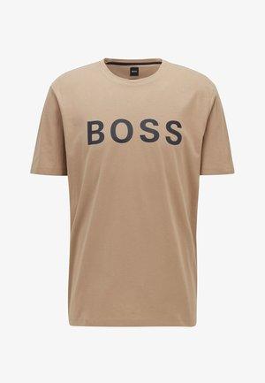 TIBURT - T-shirt imprimé - beige