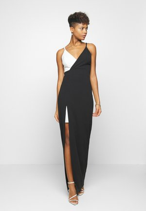 CONTRAST DRESS - Occasion wear - black/white