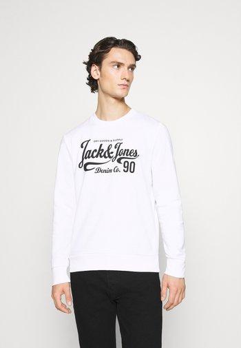 JJHERO CREW NECK - Sweatshirt - white