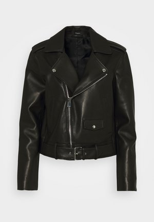 CASUAL MOTO POINT - Leather jacket - black