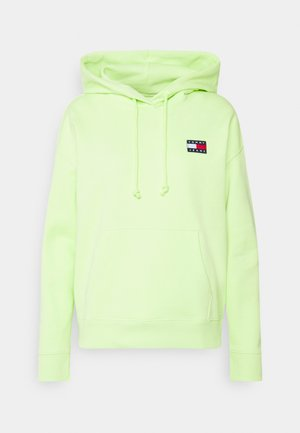 BADGE HOODIE - Felpa con cappuccio - faded lime
