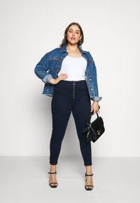 Missguided Plus - RING ZIP OUTLAW - Jegging - deep blue - 1