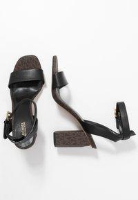 MICHAEL Michael Kors - PETRA - High heeled sandals - black/brown - 3