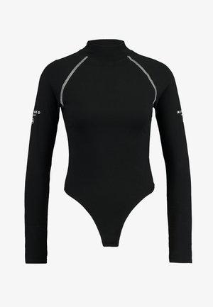 HIGH NECK BODYSUIT - Long sleeved top - black