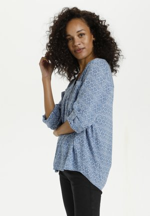 KAMALY - Blouse - blue tone graphic flower