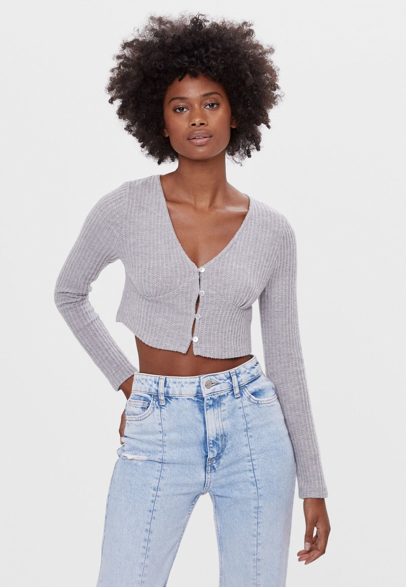 Bershka - Kardigan - light grey