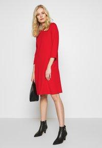 Wallis - BUCKET POCKET SWING DRESS - Jersey dress - red - 1