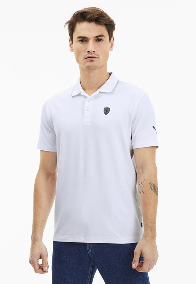 PUMA SCUDERIA FERRARI SHORT SLEEVE MEN'S POLO SHIRT MALE - Polo - puma white