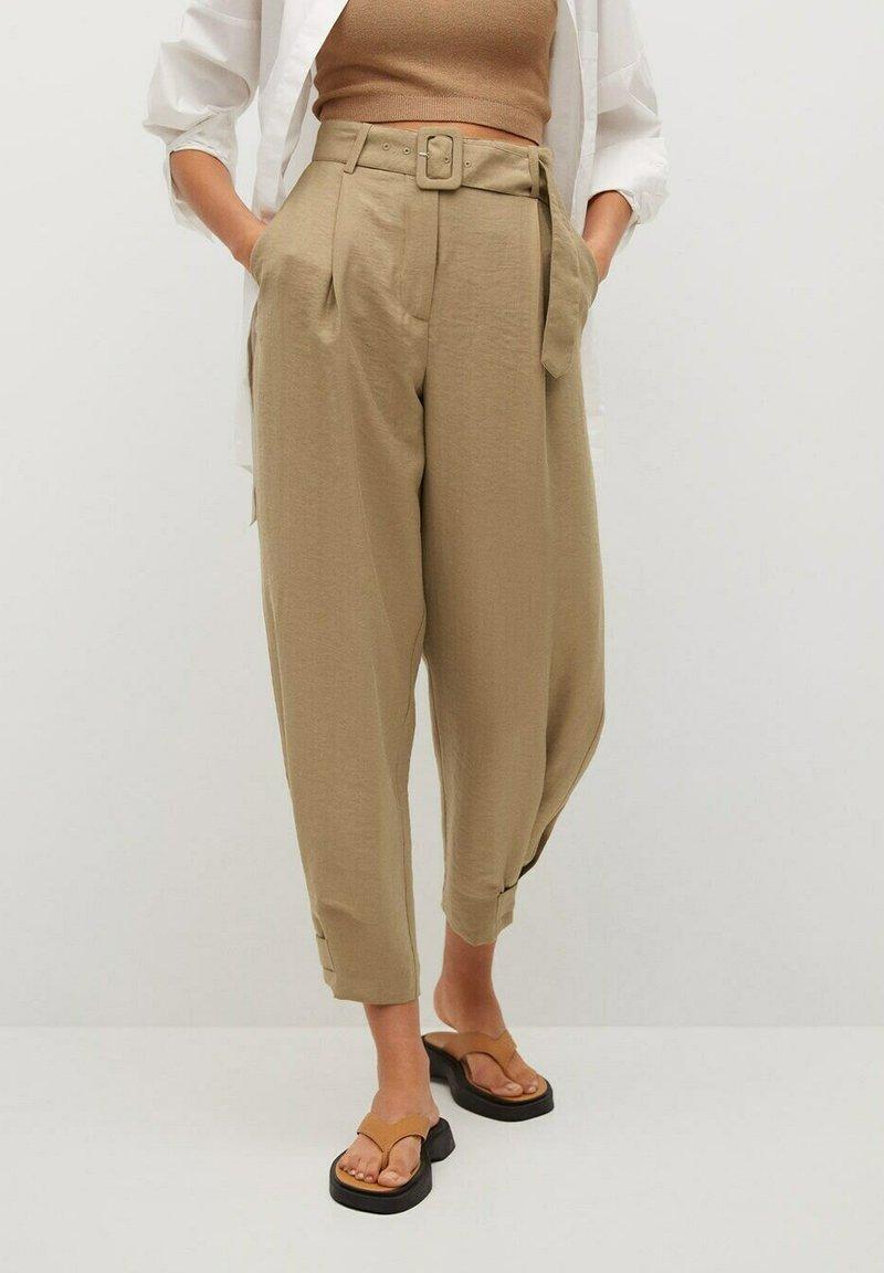 Mango - VESTI - Trousers - middenbruin