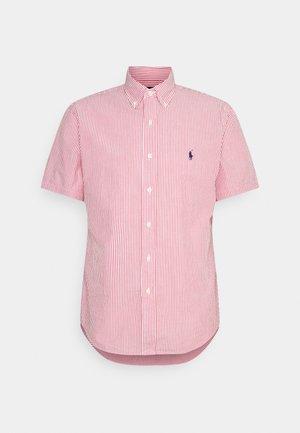 SEERSUCKER - Shirt - red/white