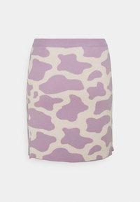 Milk it - CATTLE SKIRT - Mini skirt - lilac/cream - 1