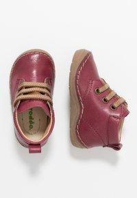 Froddo - Lær-at-gå-sko - bordeaux - 0