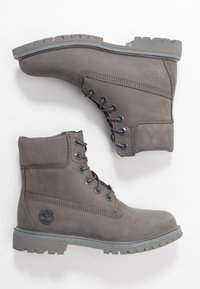 Timberland - PREMIUM BOOT  - Lace-up ankle boots - medium grey - 3