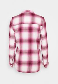GAP - DRAPEY PLAID  - Skjorte - raspberry/milk - 1