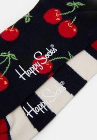 Happy Socks - CHERRY STRIPES 2 PACK - Socks - multi-coloured - 1