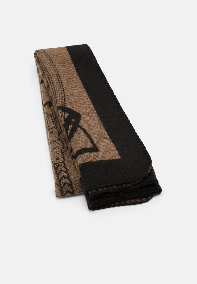 LOGO BLANKET WRAP - Scarf - black/camel