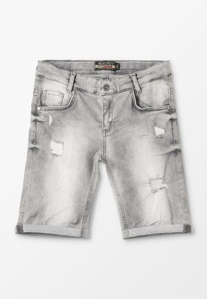 BOYS - Denim shorts - medium grey destroyed