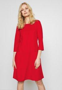 Wallis - BUCKET POCKET SWING DRESS - Jersey dress - red - 0