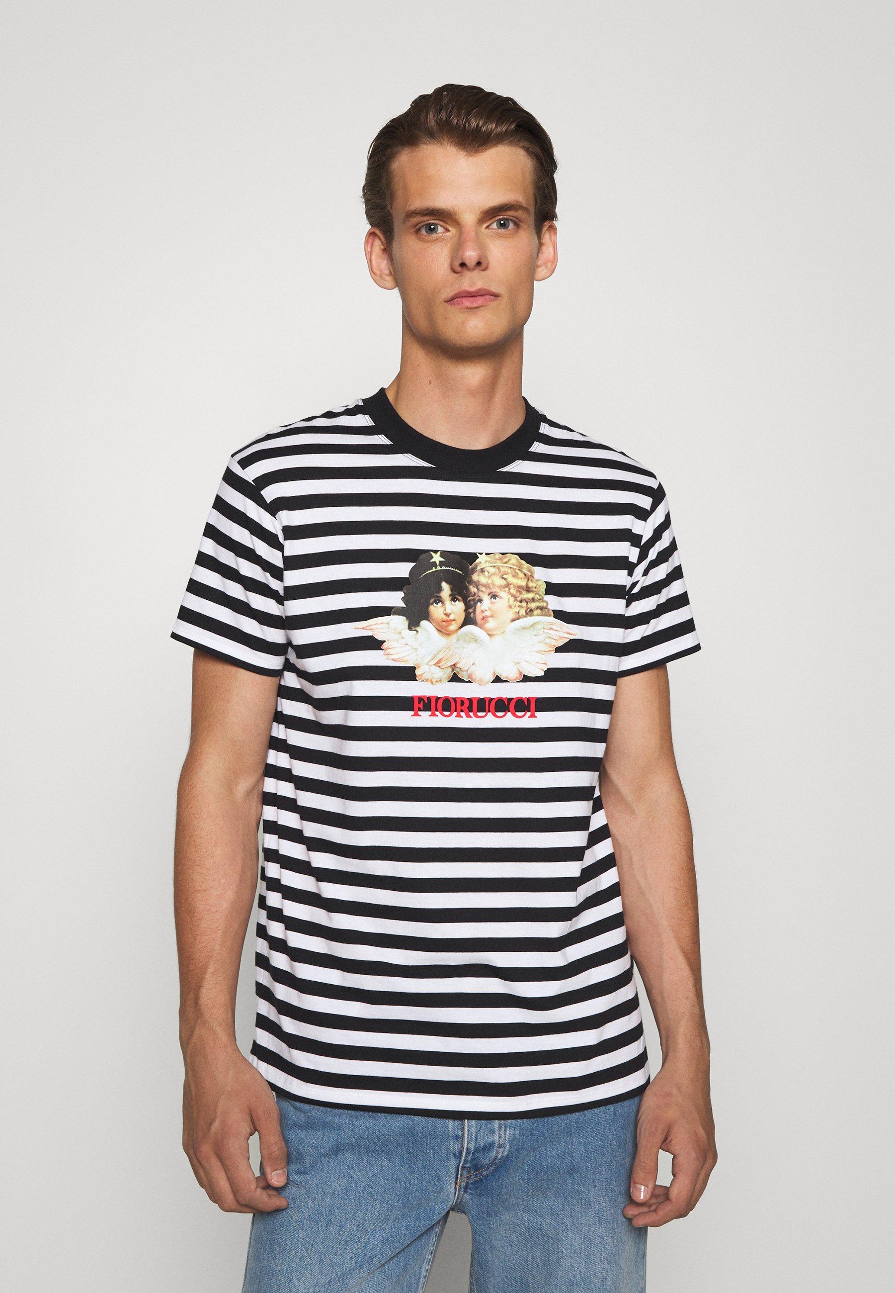 Homme STRIPE ANGELS TEE - T-shirt imprimé