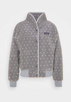 SNAP FRONT RETRO - Fleece jacket - salt grey