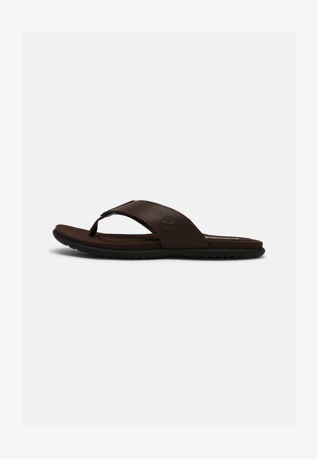 KESLER COVE - T-bar sandals - dark brown