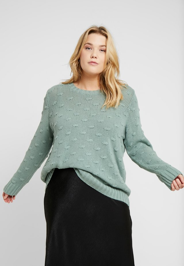 ALL-OVER POPCORN CREWNECK - Jumper - eucalyptus