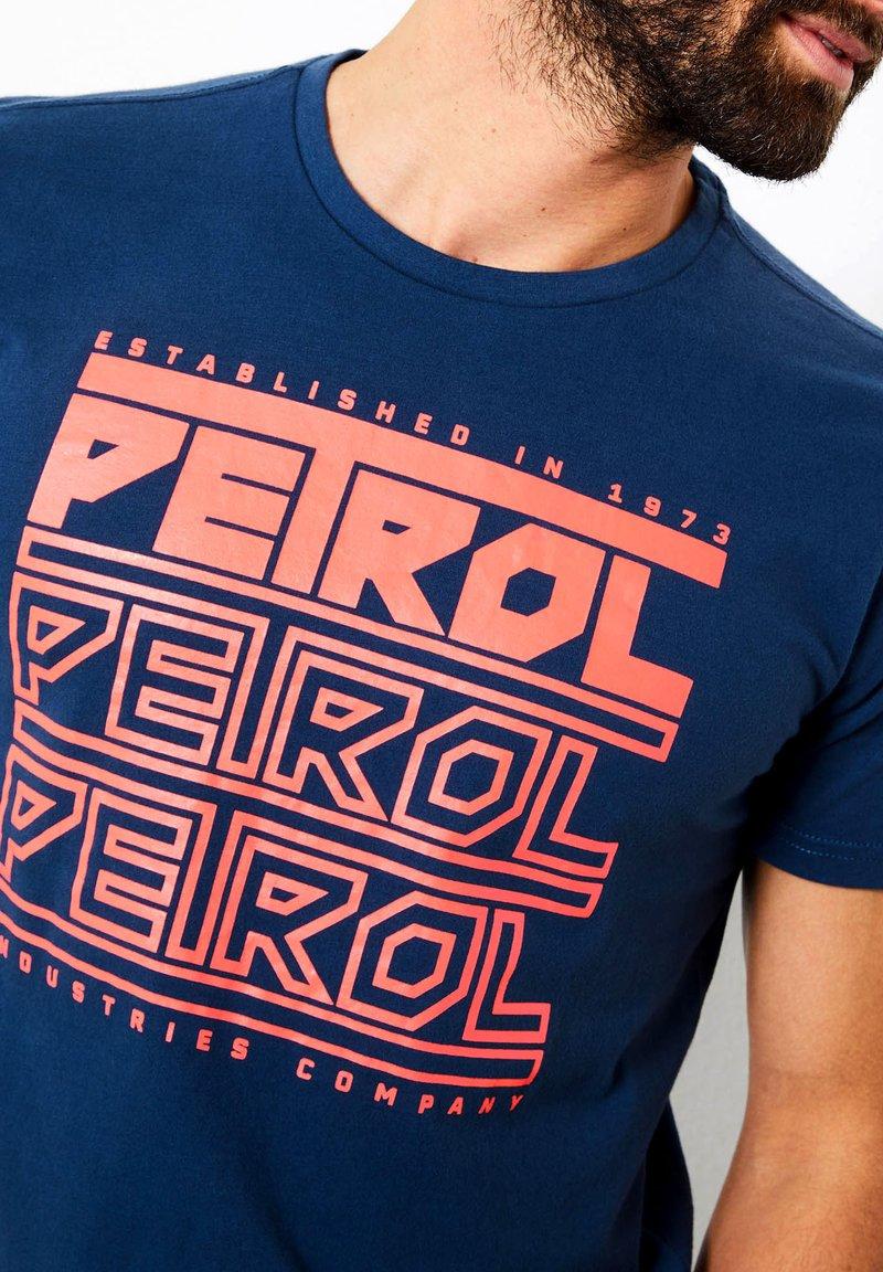 Petrol Industries T-Shirt print - petrol blue/petrol ExDGRp