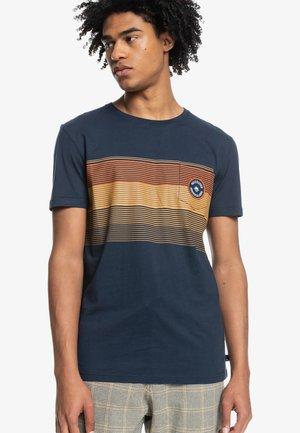 NEW STRIPES  - Print T-shirt - navy blazer