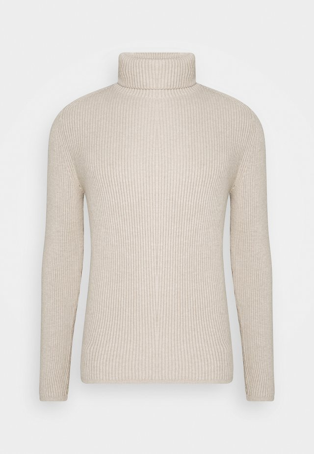 TURTLE NECK - Strikkegenser - chinchilla