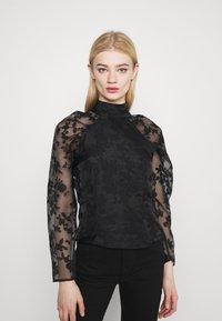 Gina Tricot - YLVA BLOUSE - Long sleeved top - black - 0