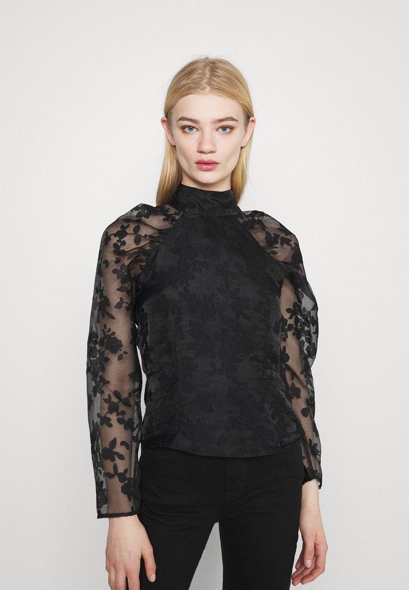 Gina Tricot - YLVA BLOUSE - Long sleeved top - black