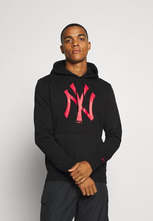 MLB NEW YORK YANKEES SEASONAL TEAM LOGO HOODY - Klubové oblečení - black/orange