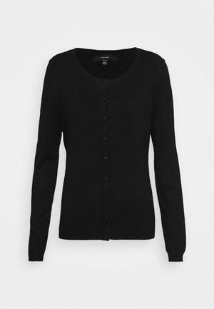 VMNELLIE GLORY O NECK CARDIGAN - Cardigan - black