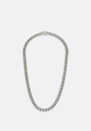 CURB ROUND UNISEX - Necklace - silver-colured
