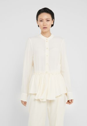 Button-down blouse - pearly ivory