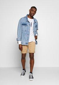 Tommy Jeans - TJM LONGSLEEVE VERTICAL LOGO TEE - Long sleeved top - white - 1