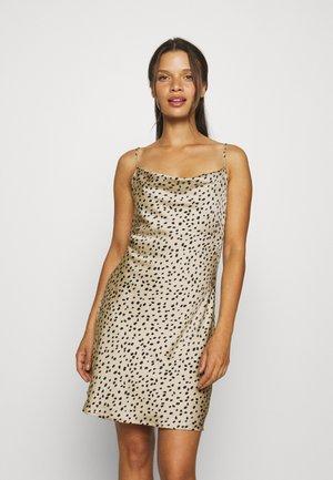 SIRI MINI COWLNECK DRESS - Jurk - beige