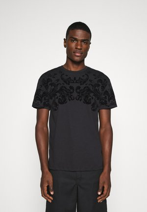 JPRBLABURNING TEE CREW NECK - Print T-shirt - black