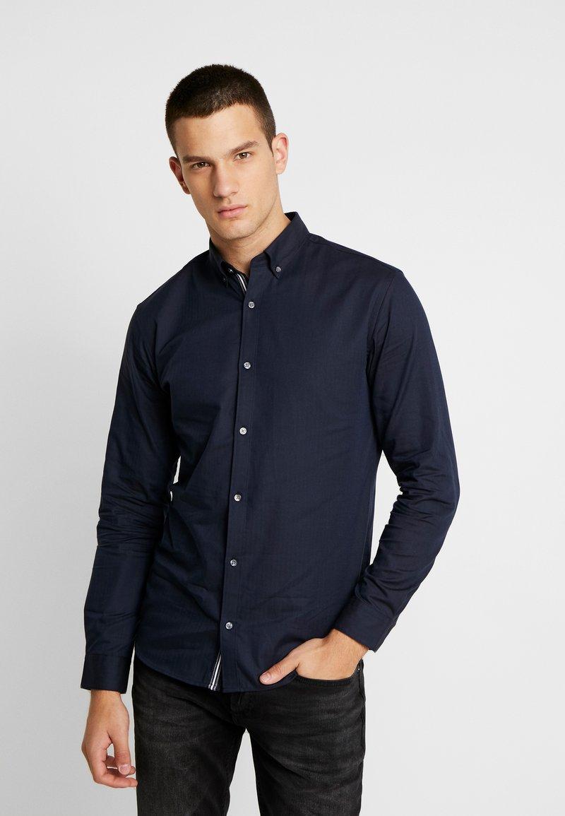Jack & Jones PREMIUM - JPRFOCUS SOLID SHIRT SLIM FIT - Shirt - navy blazer
