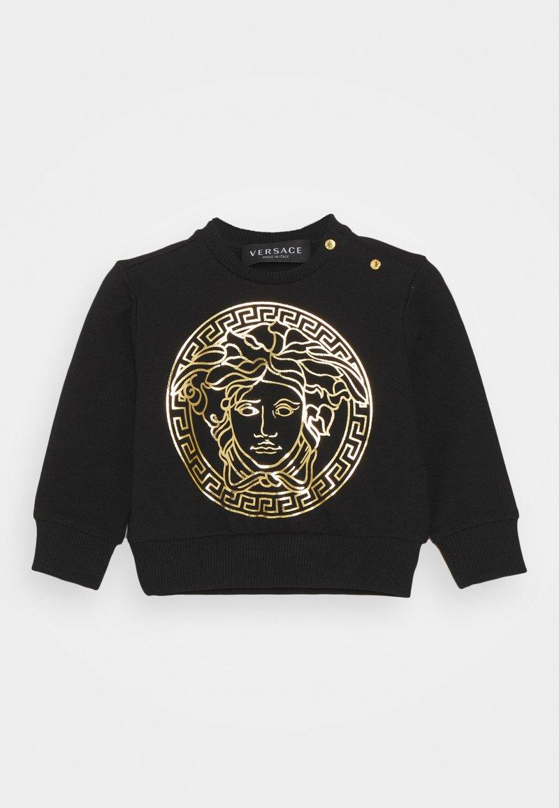 Versace - MEDUSA PRINT WITH GREEK UNISEX - Sweatshirt - black/gold