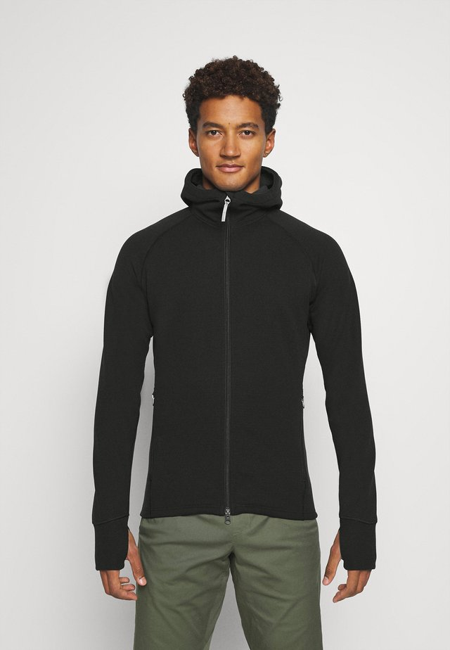 MONO AIR - Zip-up hoodie - true black