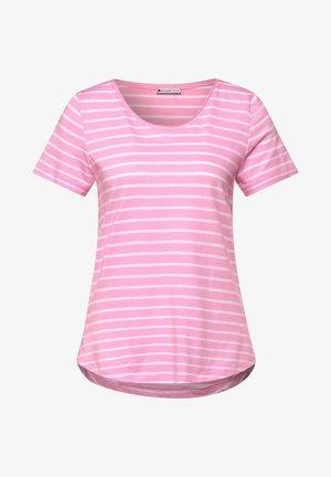 MIT STREIFEN MUSTER - Print T-shirt - rosa